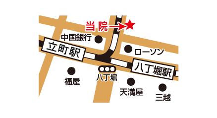 ABCクリニック広島院のマップ