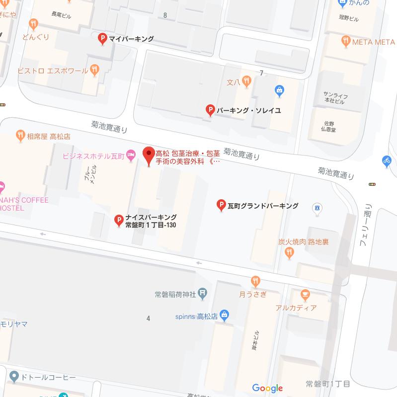 ABCクリニック 高松院 駐車場